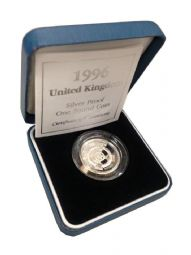 1996 Silver Proof One Pound Coin for sale